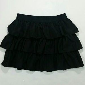 Ralph Lauren Skirt Ruffled Black 14
